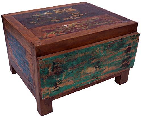 Guru-Shop Platte Ladekast, Ladekast van Gerecycled Teakhout, Meerkleurig, 36x55x46 cm, Ladekasten Dressoirs