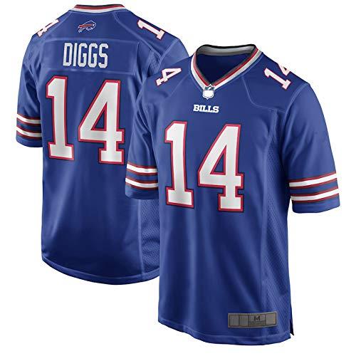 OPOOT Custom American Football Rugby Trikots Stefon Buffalo NO.14 blau, Diggs Bills Youth 2020 Spieltrikot atmungsaktiv Outdoor Casual T-Shirts für Jungen