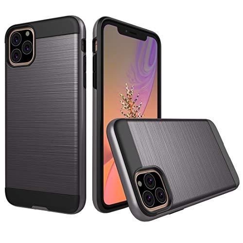 MKOKO Durable Funda Protectora de Armadura Resistente a Prueba de Golpes y cepillada Case Case for iPhone 11 Pro (Color : Grey)