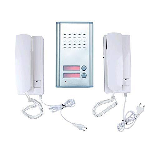Each - Interfono con doble telefonillo y botón para abrir el portal de casa