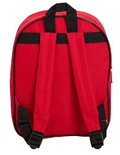41lgdpyEi8L - Marvel Spiderman - Mochila para niños con bolsillo, diseño de Los Vengadores, ojos reflectantes, color azul, Rojo (Rojo…