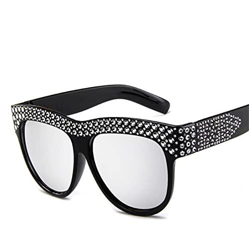 JWDS Gafas de Sol para Mujer Mujeres Femeninas Gafas Uv400 Antiestrain Y Uva / Uvb