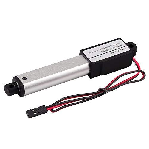 Justech 12V DC Mini Motor de Actuador Lineal 32N 50mm de Clase de Protección Estándar IP54 Actuador Lineal Eléctrico de Velocidad de 30mm/s para RV Coche Abridor de Ventana Maquinaria Automatizada
