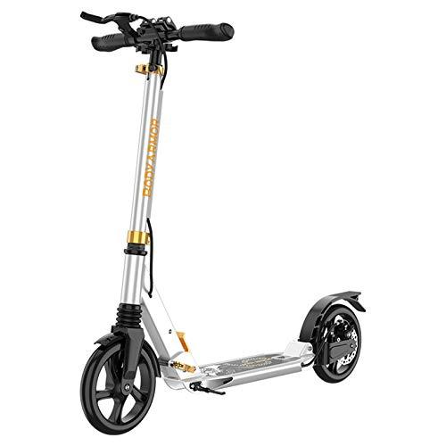 WUDAXIAN Scooter de 2 Ruedas, Cubierta de aleación Ligera, Amortiguador Plegable, Freno de Mano para Adolescentes, niños de 7-14 años, Scooter