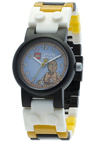 LEGO Star Wars C3PO Kids Buildable Watch with Link Bracelet and Minifigure...