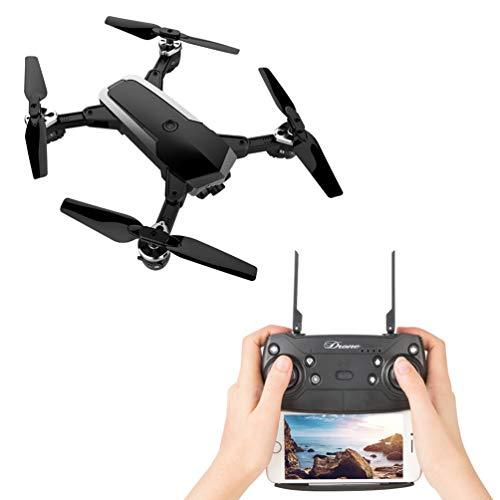 WiFi Drone 1080p HD CáMara 3D Voltea Modo Sin Cabeza Una OperacióN Clave Video Selfie DiversióN Regalo para NiñOs Principiantes,Black