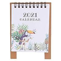 VORCOOL 2021年卓上カレンダースタンドアップカレンダーデスクトップフリップ月間カレンダー日次スケジューラ月間ページイーゼルカレンダースタイル2