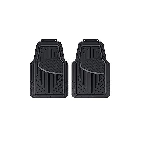 AmazonBasics 2-Piece All-Season Rubber Floor Mat for Cars, SUVs and Trucks, Black