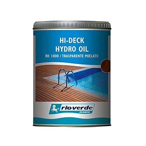 Renner rioverde hi - deck hydro oil per decking RK 1000 da 0,75lt olio trasparente mielato