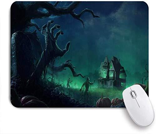 Dekoratives Gaming-Mauspad,Tote Hand von Grave Spooky Scary Halloween,Bürocomputer-Mausmatte mit rutschfester Gummibasis