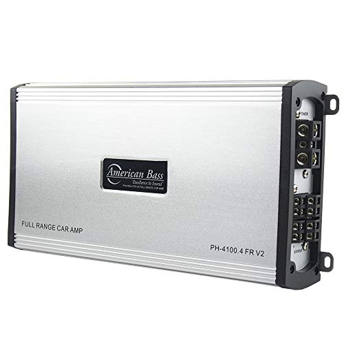 American Bass Phantom Series PH-4100.4-FR-V2 Full Range 4 Channel Class AB Hybrid Car Amplifier with 800 Watts Max
