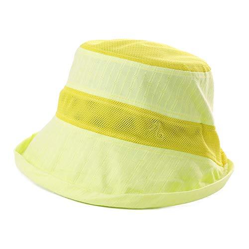 Comhats Sombrero de Playa de Verano para Mujer a Rayas, Malla Transpirable para Viajes, Senderismo, ala alámbrica, para Pesca, al Aire Libre, Plegable