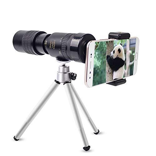 BEESCLOVER - Telescopio monocular 10-100x30 7-17 Veces HD Mini telescopio para cámara de teléfono móvil