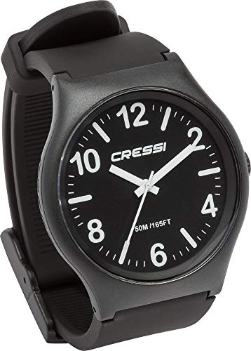 Cressi Watch Echo Reloj Analógico de Cuarzo, Unisex Adulto, Negro/Negro/Negro, Uni