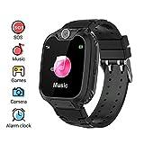 Winnes Reloj Inteligente para Niños, Niña La Musica y 7 Juegos Smart Watch Phone, 2 Vías Llamada Despertador de Cámara para Reloj Niño y Niña 3-12 años (Nergo)