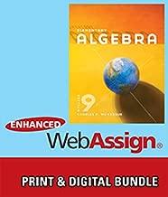 Bundle: Elementary Algebra, 9th + WebAssign Printed Access Card for McKeague's Elementary Algebra, 9th Edition, Single-Term