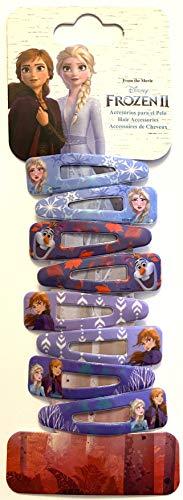 Disney Frozen Eiskönigin Haarschmuck Set - 8 Stück Haarspangen, Haarklammern in 4 Designs, ELSA, Anna und Olaf