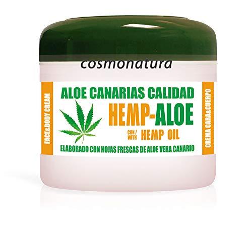 Aloe Canarias Crema Hidratante Corporal y Facial con Aceite de Cáñamo y...