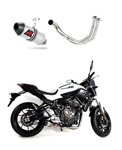 MT-07 MT 07 Escape Moto Deportivo HP3 Carbon Silenciador Dominator Exhaust Racing Slip-on 2014 2015 2016 2017 2018 2019