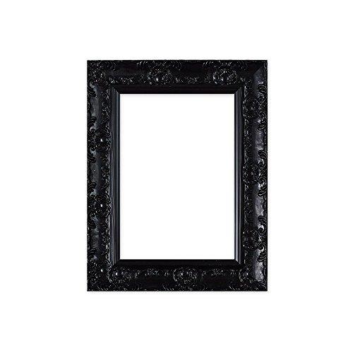 Breite verschnörkelt Shabby Chic Antiker fegte/Muse Bild/Posterrahmen -mit Einer Rückwand aus MDF - Mit Einer Echtglas (35.6 x 27.9cm) Muse Schwarze Farbe - 14 x 11 Zoll