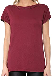 Camiseta Fitness Estampada Feminina Bordo Fit Colcci