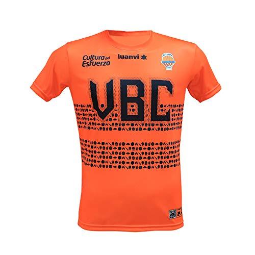 Valencia basket Camiseta motius valencians, Adultos Unisex, Naranja, 3XL