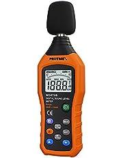 小型デジタル騒音計, Protmex MS6708 音圧計 騒音測定計 30-130db 30Hz-8kHz 音圧 レベル ノイズメータ テスター 高速/低速 選択 データ保存 バックライト付き Max/Min値 100グループデータストレージ