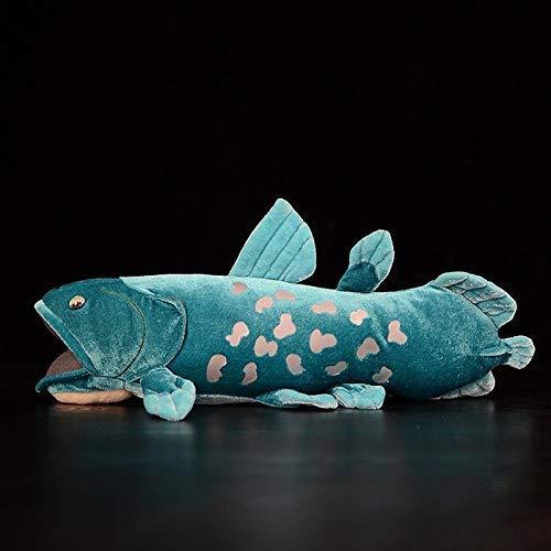HomeDecor Fische Gefüllte Spielzeug 38cm Lange Lebensweiß Huggable Coelacanth Gefüllte Spielzeug Weiche Simulation SEA S Plüschspielzeug Fish Puppen für Kinder Geburtstagsgeschenke Manmiao