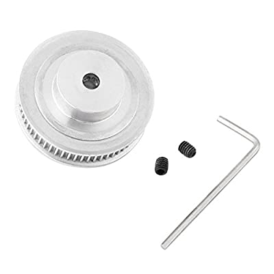 GT2 Toothed Pulley, GT2 Aluminium Toothed Pulley 60 Tooth 60T Hole 5mm for 3D Printer