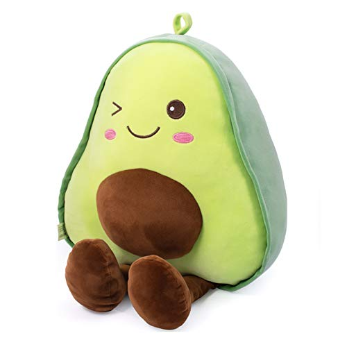 Bunbunbunny Avocado Fruit Soft Plush Toy Furry Stuffed Toy Avocado Plush Doll Cute Toy Stuffed Pillow (23 inch Including Legs) Pretty Gift for Girl and Boy Friends
