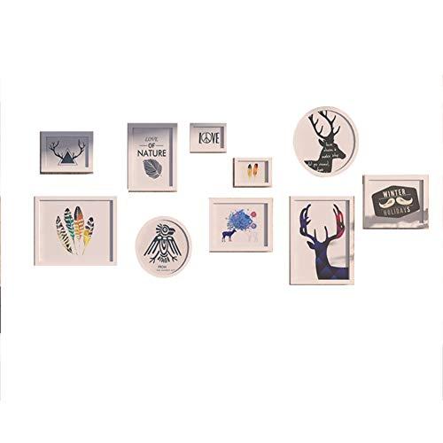 Fotobehang Creatieve Multi Foto Frames Eenvoudige Europese Woonkamer Slaapkamer Muurschildering Frame Ophangende Muur Combinatie