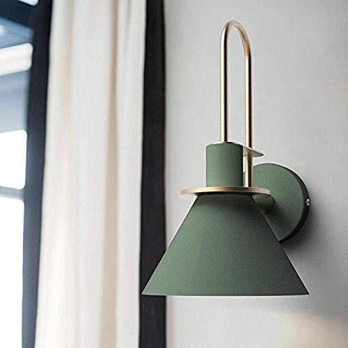 Lámpara de pared Iluminación decorativa LED que lee la lámpara de pared E27 de una cabeza (excluyendo la bombilla) @ 绿色 Iluminación