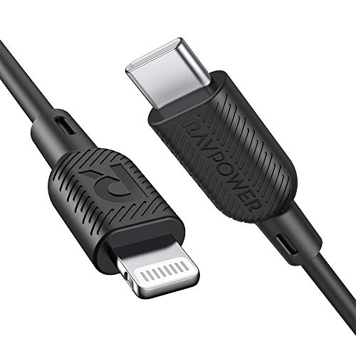 RAVPower USB C auf Lightning Kabel, 90cm/180cm USB C Ladekabel, Apple MFi-Zertifiziert, für iPhone 11/11 Pro/11 Pro max/X/XS/XR/XS Max / 8/8 Plus, USB C Unterstützt Power Delivery Lightning Kabel