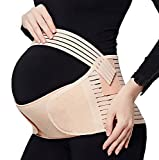 Pregnancy Belly Support Band Maternity Belt for Back & Waist & Pelvic Pain Relief and Postpartum Recovery,Beige,Plus Size