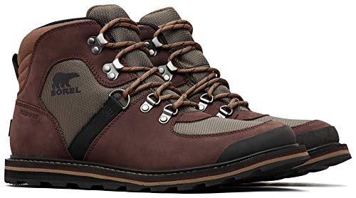 Sorel Homme Botte Imperméable, MADSON SPORT HIKER WATERPROOF, Marron (Mud), Taille : 42