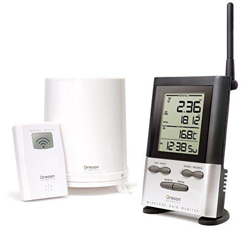Oregon Scientific Wireless Rain Gauge Weather Station with Remote Sensor – Temperature Readings