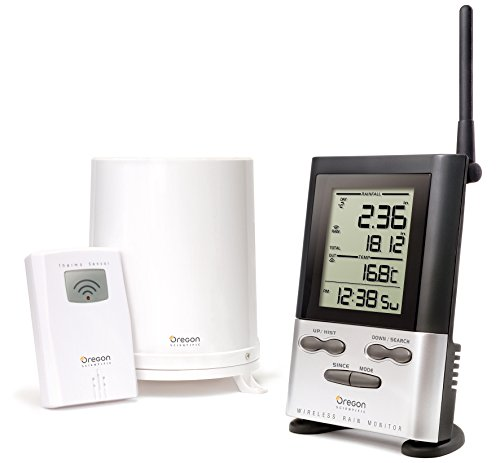 Oregon Scientific Wireless Rain Gauge Weather Station with Remote Sensor -...