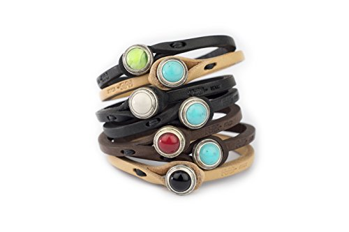Genuine Italian Leather Bracelet in Multiple Color...
