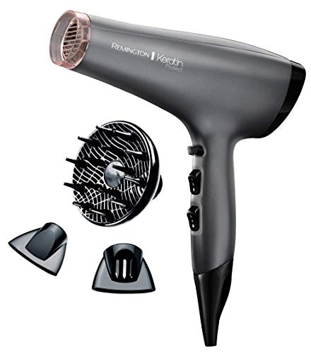 Remington Keratin Protect Ionic Hair Dryer, Infused with Keratin and Almond Oil...