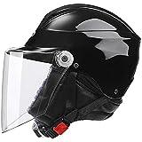 Ecloud Shop® Visor de Bicicleta frontal Levante el casco de invierno Bicicleta con protector solar para hombres y mujeres Casco de automóvil eléctrico, casco de bicicleta (negro)