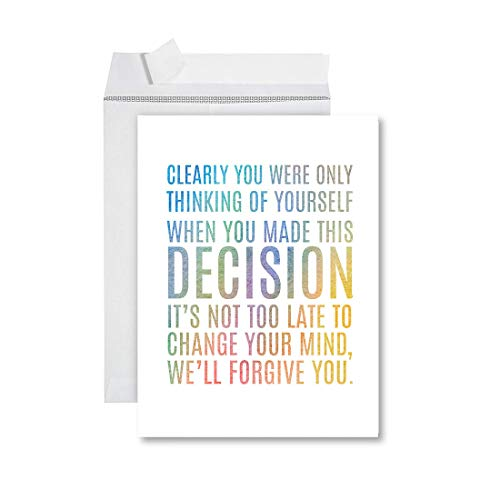 Andaz Press Funny Jumbo Retirement Card With Envelope 8.5 x 11 inch, Greeting Card, Clearly You Were Only Thinking Of Yourself.