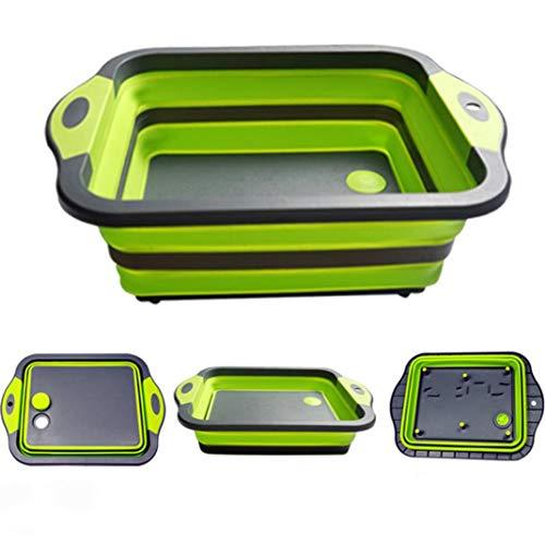 EASYRV - Cuenco plegable para lavadora, cesta de filtro, lavabo plegable, portátil, ideal para camping, caravanas, actividades al aire libre, cocina