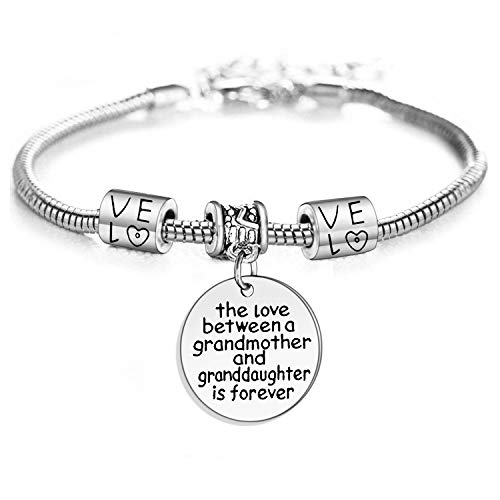 YeeQin Love Between a Grandmother and Granddaughter is Forever Bracelet Family Jewelry