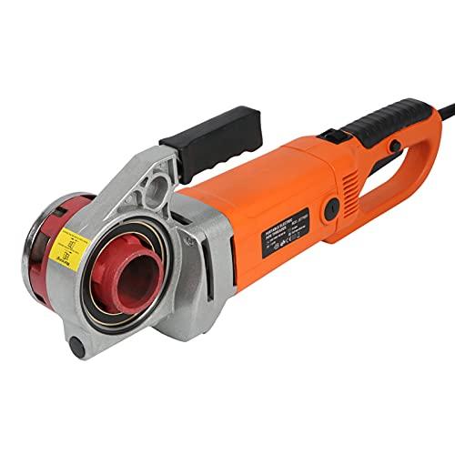 Herramienta eléctrica Roscadora de tubos eléctrica Máquina roscadora portátil Durable para instituciones para mantenimiento familiar para empresas industriales(European standard 220V, pink)
