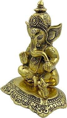 SMART HANDICRAFT Lord Ganesha Brass Idol Statue Showpiece