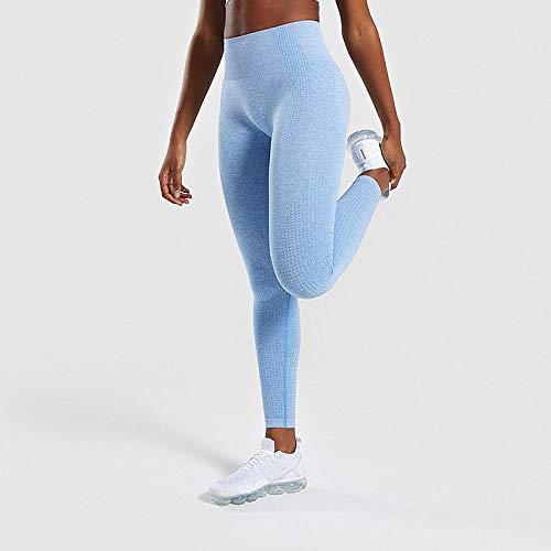 Pantalon Leggings Mujer Leggings Sin Costuras para Mujer Leggings De Fitness para Mujer Jeggings Ropa Deportiva Mujer Leggings De Ejercicio De Cintura Alta Mujeres XL Azul