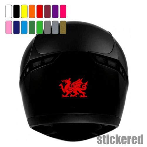 SUPERSTICKI 2X Drache Helmaufkleber Helm Motorrad Aufkleber Bike Auto Racing Tuning aus Hochleistungsfolie Aufkleber Autoaufkleber Tuningaufkleber Hochleistungsfolie für alle glatten Fläche