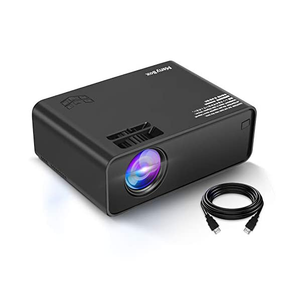 ManyBox Mini Projector, Portable Video Projector with 45000 Hrs LED Lamp Life, Full...