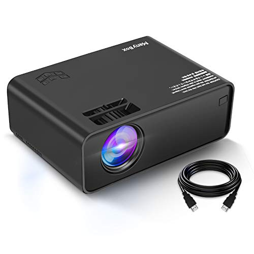 ManyBox Mini Projector, Portable Video Projector with 45000 Hrs LED Lamp Life, Full HD 1080P Supported, Compatible with TV PS4, HDMI, VGA, TF, AV and USB-2020 Upgraded Version