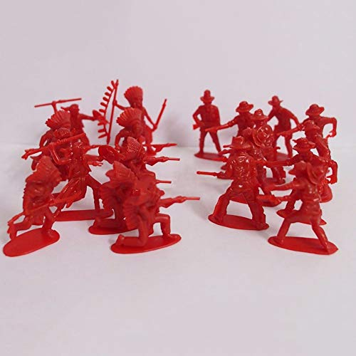 Catkoo 70 Unids/Pack Figuras Clásicas De Indios Vaqueros Soldados del Ejército Mini Juguete Regalo para Niños, Entrenamiento Perfecto Regalos De Inteligencia para Niños